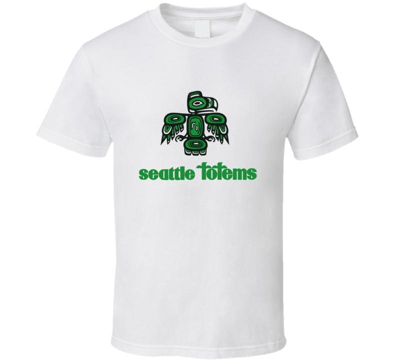 Seattle totems hockey franchise retro whl classic hockey t shirt