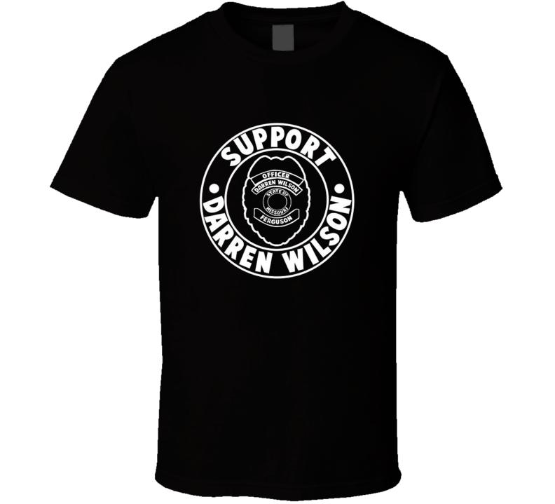 Support darren wilson t shirt officer ferguson mike michael brown