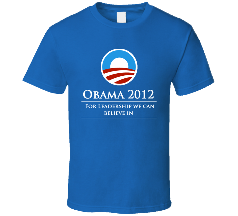 barrack obama president re elect campaign t shirt