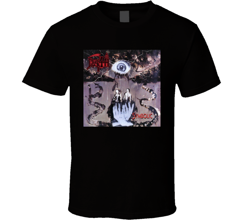 Death symbolic rock band album cover classic t shirt for Banded bottom shirts canada