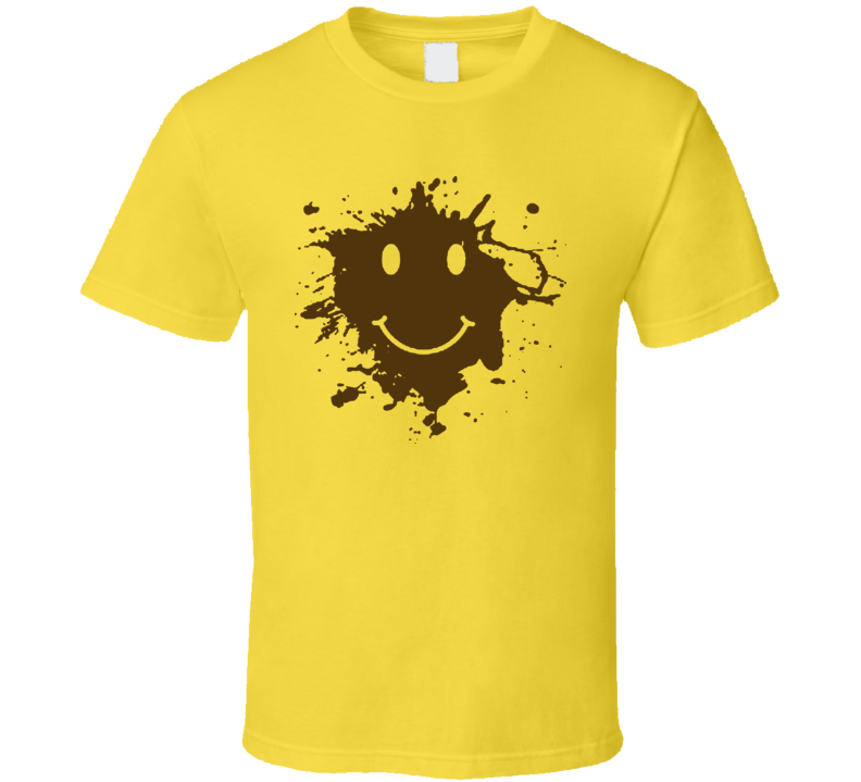 Forrest Gump Mud Smiley Face Running Movie T Shirt
