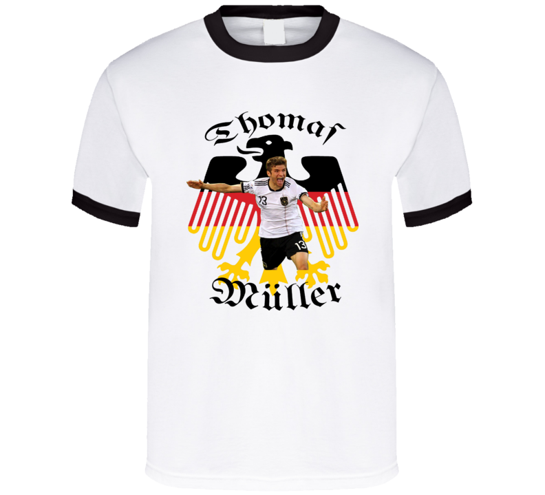 competitive price 8cd1c 00193 Thomas Muller Striker Germany Football Soccer T Shirt
