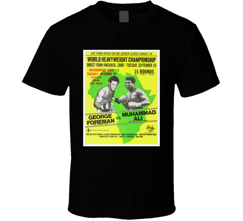 Muhammad Ali vs Foreman Rumble in The Jungle Boxing Poster T Shirt