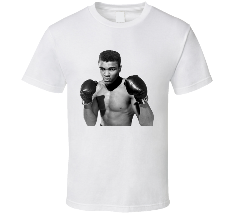 Muhammad Ali Young Greatest Boxer Boxing T Shirt White