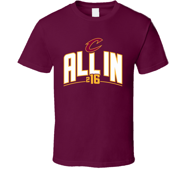Cleveland 2016 Basketball All In Cavaliers Ohio Champions T Shirt