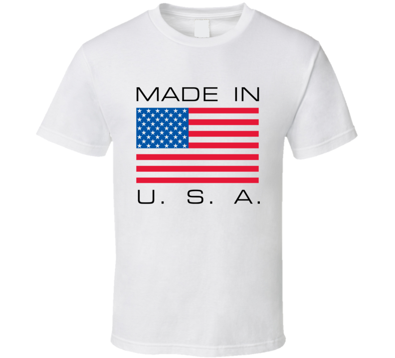 Made In USA American Label T Shirt