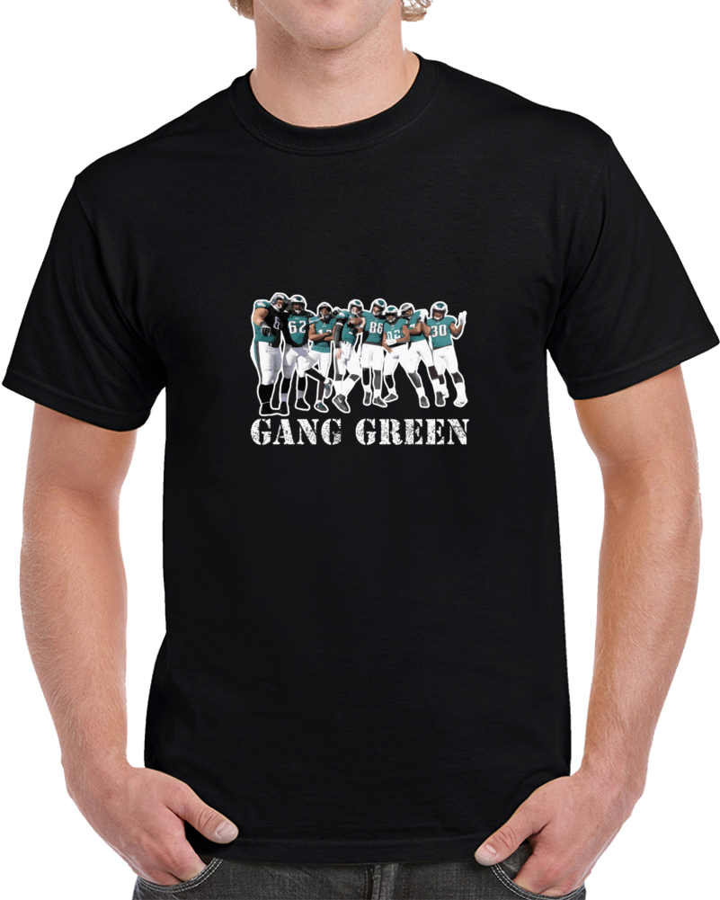Philadelphia Football Team Gang Green Superbowl Champs T Shirt