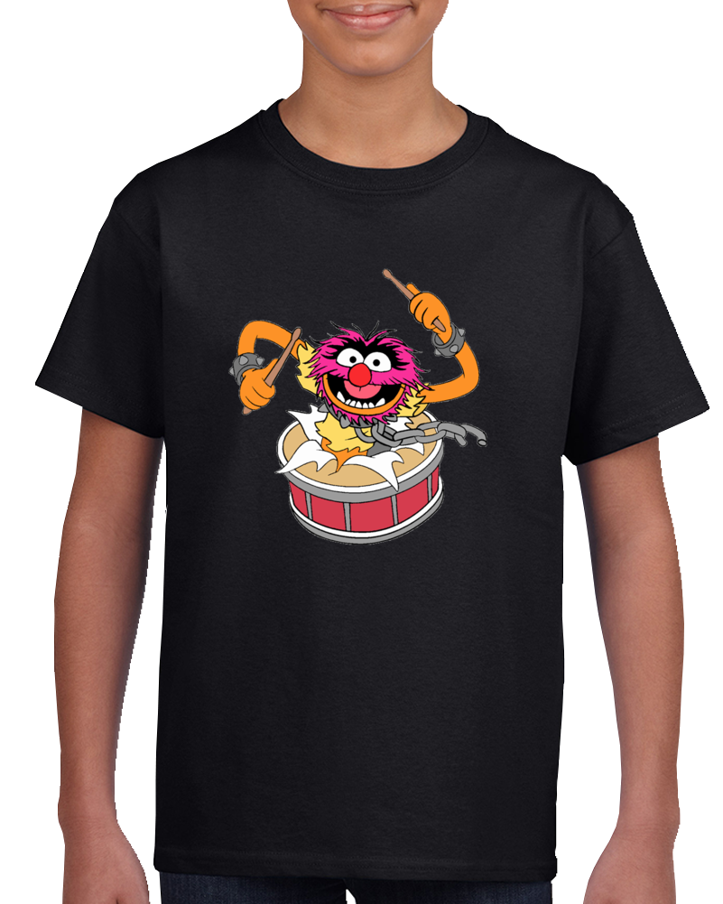 Animal Muppets Drummer Rock And Roll Kids Childrens Tv Show T Shirt
