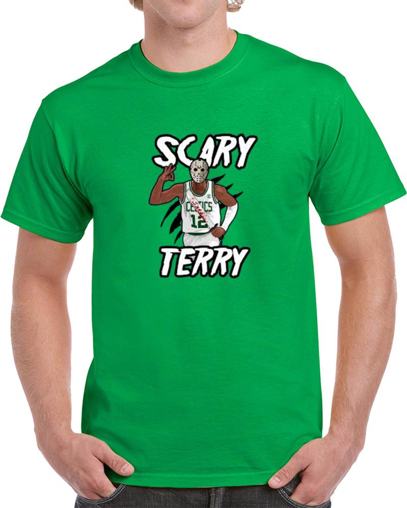 0fa1787d4908 Scary Terry Bozier Jason Voorhees Halloween Boston Basketball T Shirt
