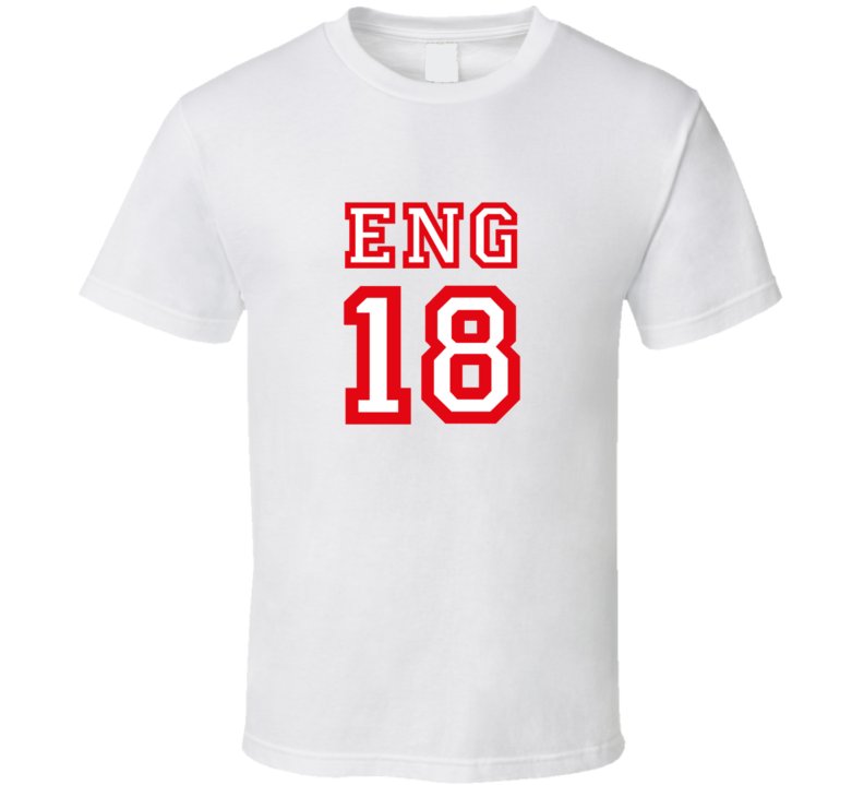 2dee7e955 England 2018 World Cup Russia Socer Fan Supporter 18 T Shirt