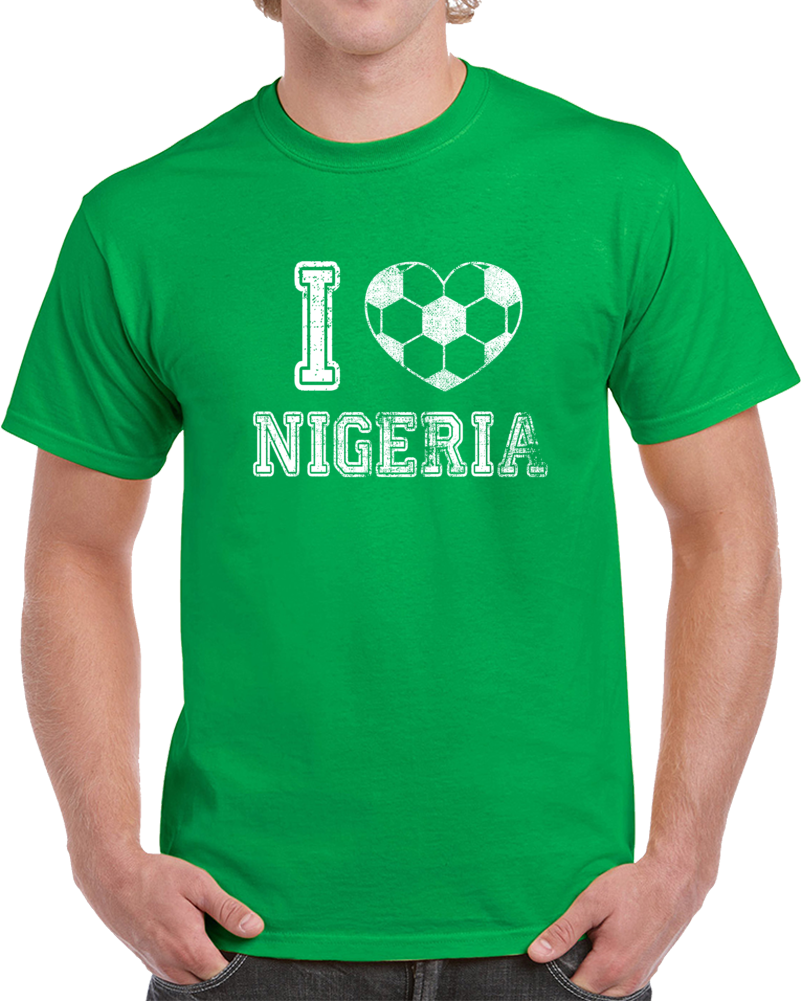 I Love Nigeria World Cup 2018 Russia Fan Supporter T Shirt