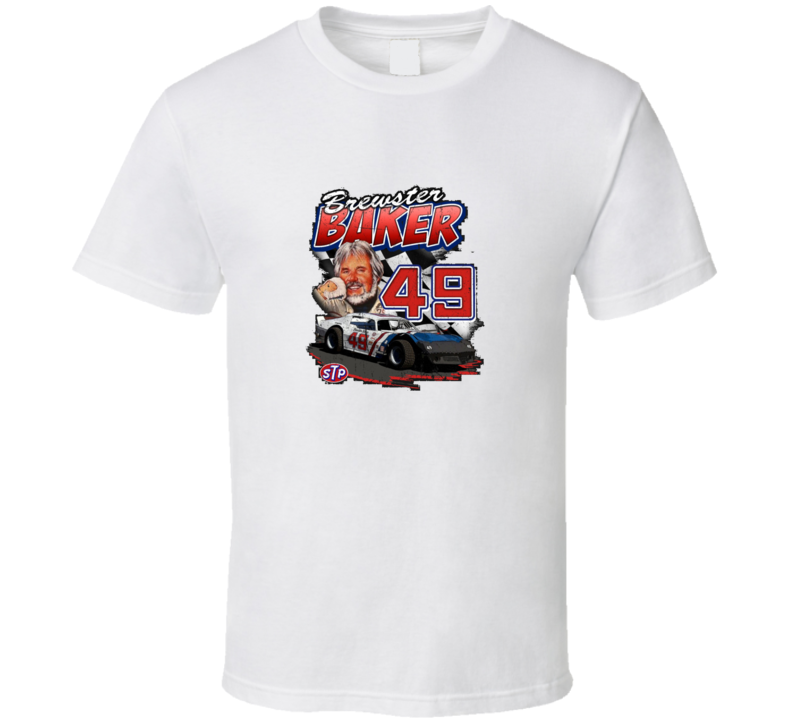 Brewster Baker Kenny Rogers Six Pack Movie Race Car T Shirt