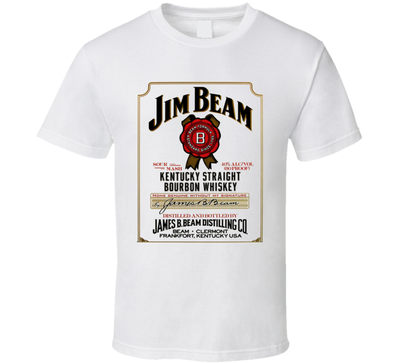 Jim Bean Kentuck Whiskey Logo T Shirt
